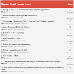 ReasonReact Hacker News